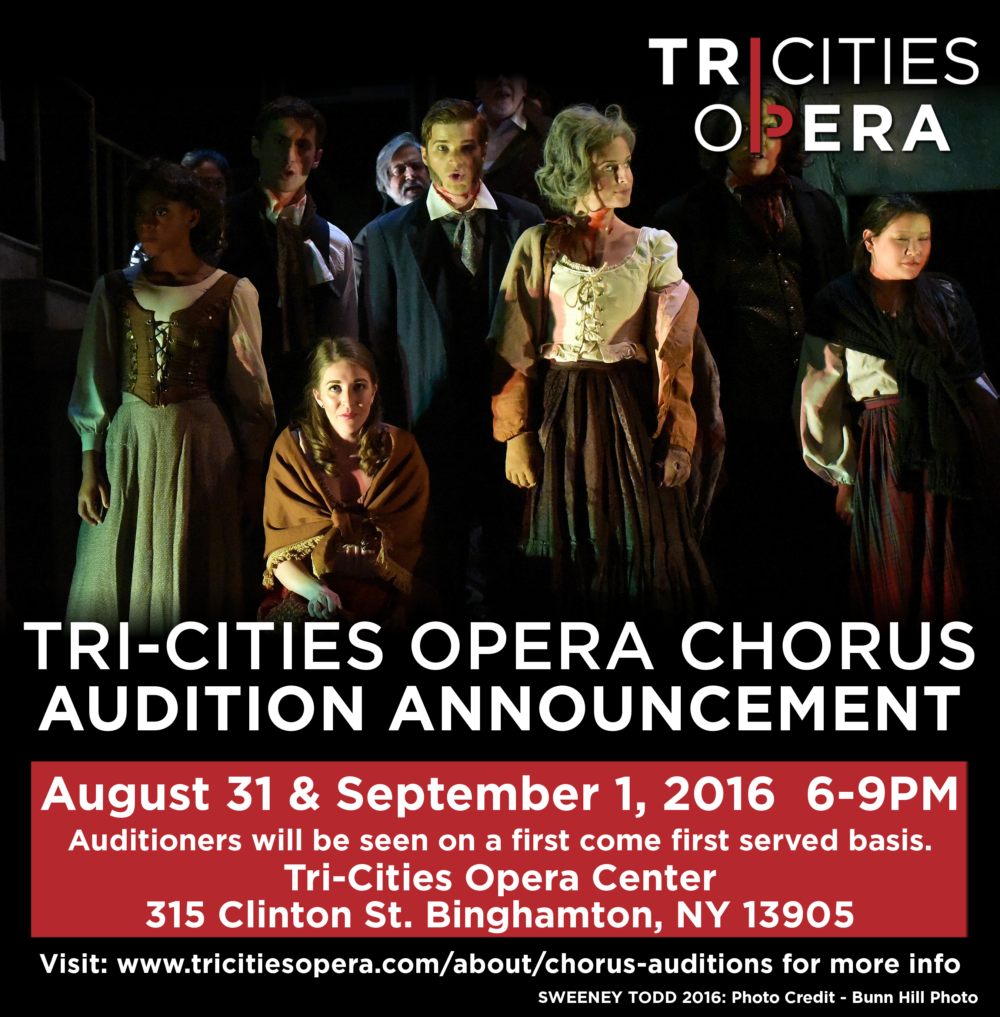 2016 TCO Chorus Audition Notice