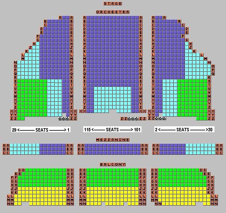 Forum Theatre Seating 2013