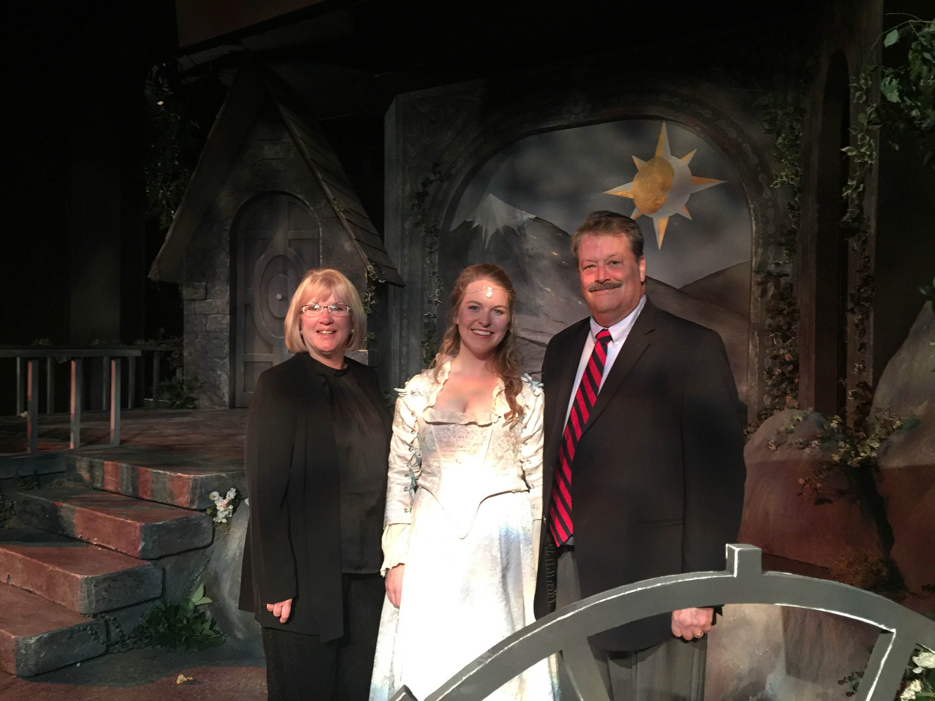 Abigail Rethwisch and her sponsors Dr. Frederick and Lynne Lacey