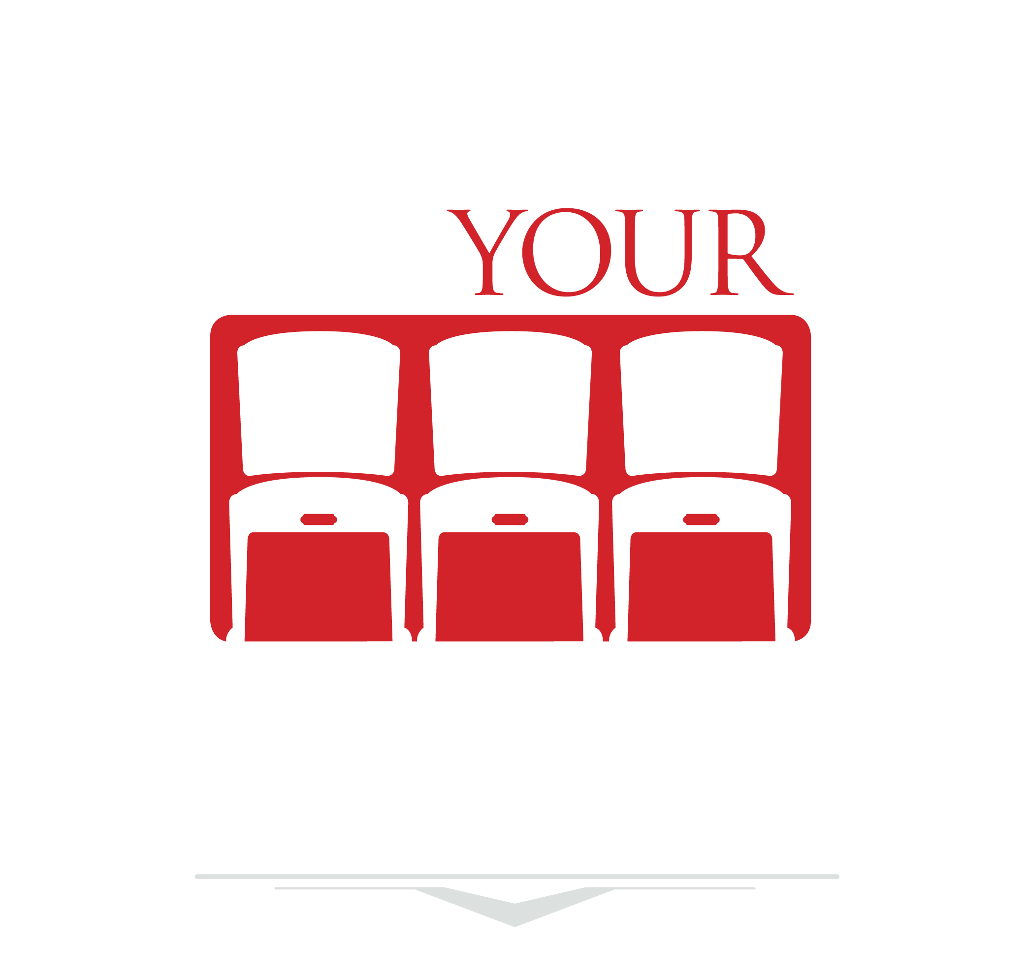 Take Your Seat Logo White and red