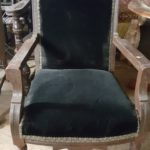 black-plush-armchair