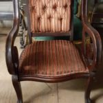 rust-red-arm-chair