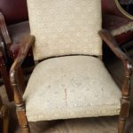 white-fabric-arm-chair